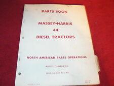 Massey Ferguson Harris 44 Diesel Tractor Original Dealer's Parts Book