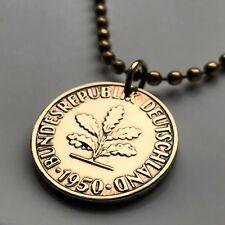 Germany 10 Pfennig coin pendant German planting gardener seeds Berlin n000198