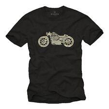 Vintage Motorrad T-Shirt Sportster Custom Chopper Cafe Racer Bobber Herren Biker