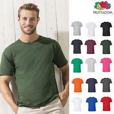 Fruit of The Loom Ringspun Premium T-Shirt - Plain Casual Crew Luxury Tee S-5XL