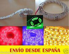 Tira Led Blanco Frío y Cálido, Azul, Rojo, Verde y RGB 5050/3528 12V 60Led