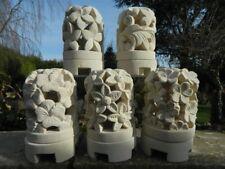 LANTERNA in pietra Tè Leggero Candela Holder Arenaria da Giardino Luce Tè-assortiti DES