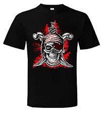 Jolly Roger T-shirt-Teschio e Ossa incrociate Pirata Costume Pirati-SPEDIZIONE GRATUITA