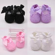 Newborn Baby Girls Soft Shoes Soft Soled Non-slip Bowknot Footwear Crib Shoes U2
