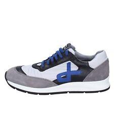 scarpe uomo ROBERTO BOTTICELLI LIMITED sneakers grigio pelle camoscio BT541
