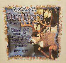 CHRISTIAN OUTFITTERS DEER BUCK HUNTER HUNTING  JESUS #1179 POCKET SHIRT
