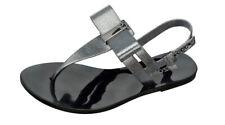 Womens Zaxy Sandals Glaze Sandal Bow T-Bar Beach Flip Flops - Black Glitter