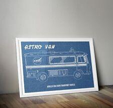 Astro Van NASA Apollo-era Crew Transport Van/ Vehicle Print Wall art Poster A3