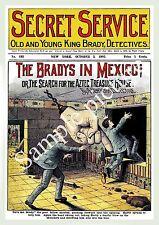 Servicio Secreto: Vintage pulpa portada de la revista, Afiche, reproducción.