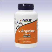 NOW L-ARGININE 500 MG (100 / 250 CAPSULES) pump boost nitric oxide blood flow no