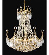 "Palace Crown A  28""H Crystal Chandelier Light Lamp - Gold Precio Mayorista"