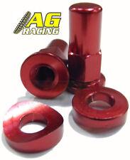 Apico Cap Screw Aluminium Rim Lock Red 1 Pair MX