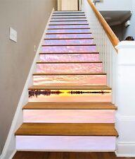 3D Seestück 8741 Stair Risers Dekoration Fototapete Vinyl Aufkleber Tapete DE