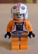 LEGO star wars luke skywalker pilote orange personnage figurines pilotes rouge nouveau