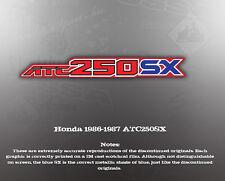 HONDA 1986-1987 ATC250SX TOOLBOX REPRODUCTION WARNINGS DECALS GRAPHICS