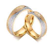 Anello Coppia Fede Fedi Fedine Fidanzamento Matrimonio Acciaio Oro Argento Love