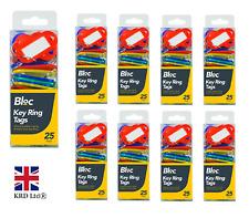 KEYRING TAGS Plastic ID Name Key Tags Label Key Ring Fob Tag Colour GMDIY0555 UK