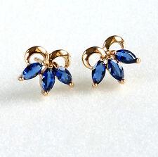fashion1uk 18K Gold Plated Girl Lady Simulated Diamond Stud Earrings Blue Lilac