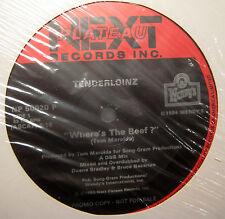 "TENDERLOINZ Where's The Beef FACTORY SEALED Next Plateau 12"" WENDY'S logo labels"
