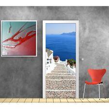 Adesivi porta decocrazione Scala vista sul mare 723