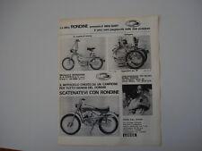 advertising Pubblicità 1969 MOTO RONDINE MINI BABY/CROSS FULL EXPORT