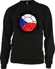 Czech Republic Flag Soccer Ball Football Ceska Team Colors CZE CZ Men's Thermal