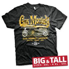 Officially Licensed Gas Monkey Garage- Green Hot Rod 3XL, 4XL, 5XL Men's T-Shirt