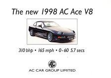 1998 AC Ace V8 Car Original Sales Brochure Fact Sheet