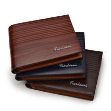 Men Vintage Leather Wallet Short Slim Male Luxury  Purses Money Clip Credit Card