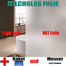 Milchglasfolie  Set -  Sichtschutzfolie Fensterfolie - Folien + Rakel + Messer