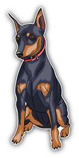 Miniature Pinscher Breed Dog Car Bumper Sticker Decal  -  3'', 5'', 6'' or 8''