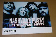 Nashville Pussy Let Them Eat Pussy On Tour Promo Original Poster Mint 18x24