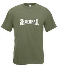 Skinhead blanc design classique olive t-shirt toutes tailles