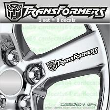 8 X Transformers Autobot Wheel Decal Sticker Camaro Emblem Logo Vinyl (IIII) I
