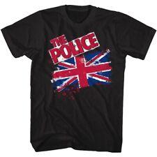 THE POLICE UNION JACK BLACK ADULT Short Sleeve T-Shirt