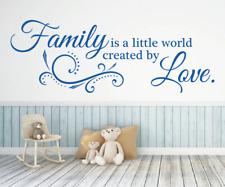 X4583 Wandtattoo Spruch Family is a little world by Love Sticker Wandaufkleber