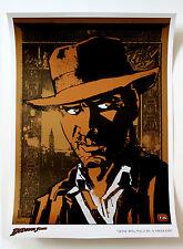 Harrison Ford Indiana Jones Metallic Bronze Copper Brown Fine Art Lithograph
