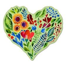 Floral Heart Watercolor Vinyl Sticker - SELECT SIZE