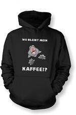 Kapuzenshirt Hoodie GrösseS - XXL Wo bleibt mein Kaffee ? Katze Cat
