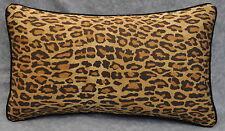 Pillow made w Ralph Lauren Venetian Leopard Animal Print Fabric 20x12 trim cord