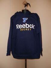 New NHL St. Louis Blues Youth sizes S-L-XL Reebok Navy Blue Hoodie