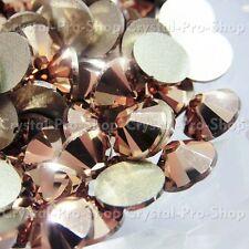 GENUINE Swarovski Rose Gold ( ROGL ) Crystal Flatback ( No Hotfix ) Rhinestone