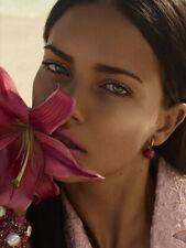Adriana Lima Flower Portrait Beautiful Model Huge Print POSTER Affiche