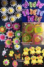 8 x Easter Felt Stickers Art Craft Decoration Egg,Chick,Flower,Butterfly,Bunny