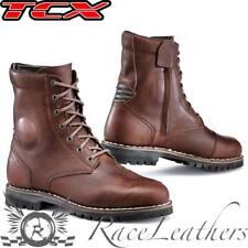 TCX Hero Wp Marrone URBANO IMPERMEABILE CON LACCI & Cerniera Stivali da moto