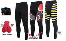 Hombre ciclismo térmico estrecho pantalones invierno Cold Wear ACOLCHADO LEGGING