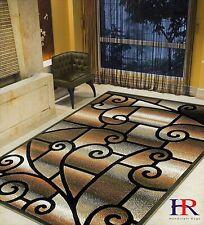 Modern Contemporary Living Room Rug-Abstract,Geometric Swirls...