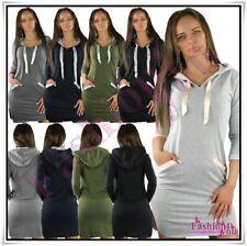 Sexy Ladies Hooded Mini Dress Women's Everyday Mini Dress One Size 8,10,12,14 UK