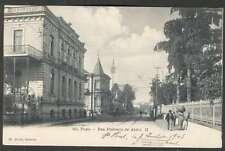 Brazil Postcard Sao Paulo 1908 Rua Florencio De Abreu II To France 1 Stamp L@@K