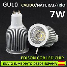 LED BOMBILLA 7W COB GU10 220V, (3 TONOS DE LUZ) BIRNE LAMPADINE BULB HALOGENO